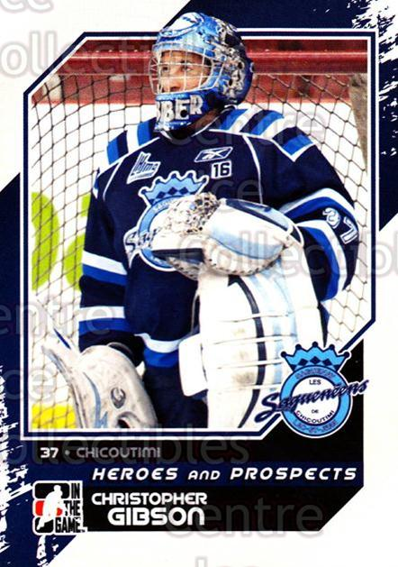 2010-11 ITG Heroes and Prospects #181 Christopher Gibson<br/>41 In Stock - $1.00 each - <a href=https://centericecollectibles.foxycart.com/cart?name=2010-11%20ITG%20Heroes%20and%20Prospects%20%23181%20Christopher%20Gib...&price=$1.00&code=301639 class=foxycart> Buy it now! </a>