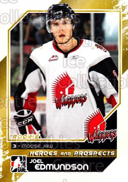 2010-11 ITG Heroes and Prospects #191 Joel Edmundson<br/>40 In Stock - $1.00 each - <a href=https://centericecollectibles.foxycart.com/cart?name=2010-11%20ITG%20Heroes%20and%20Prospects%20%23191%20Joel%20Edmundson...&quantity_max=40&price=$1.00&code=301649 class=foxycart> Buy it now! </a>