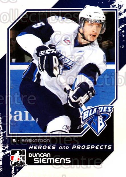 2010-11 ITG Heroes and Prospects #195 Duncan Siemens<br/>41 In Stock - $1.00 each - <a href=https://centericecollectibles.foxycart.com/cart?name=2010-11%20ITG%20Heroes%20and%20Prospects%20%23195%20Duncan%20Siemens...&quantity_max=41&price=$1.00&code=301653 class=foxycart> Buy it now! </a>