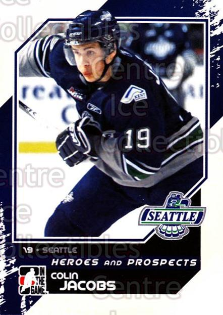 2010-11 ITG Heroes and Prospects #196 Colin Jacobs<br/>43 In Stock - $1.00 each - <a href=https://centericecollectibles.foxycart.com/cart?name=2010-11%20ITG%20Heroes%20and%20Prospects%20%23196%20Colin%20Jacobs...&price=$1.00&code=301654 class=foxycart> Buy it now! </a>