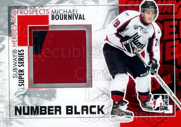 2010-11 ITG Heroes and Prospects Subway Number Black #17 Michael Bournival<br/>1 In Stock - $20.00 each - <a href=https://centericecollectibles.foxycart.com/cart?name=2010-11%20ITG%20Heroes%20and%20Prospects%20Subway%20Number%20Black%20%2317%20Michael%20Bourniv...&quantity_max=1&price=$20.00&code=301669 class=foxycart> Buy it now! </a>