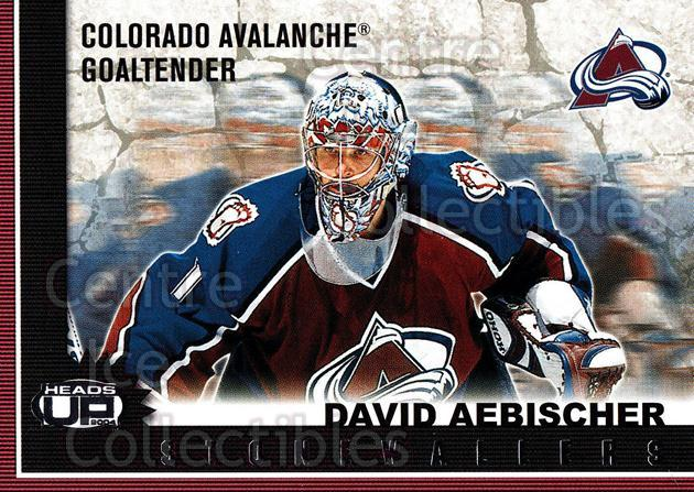 2003-04 Heads-Up Stonewallers #3 David Aebischer<br/>2 In Stock - $2.00 each - <a href=https://centericecollectibles.foxycart.com/cart?name=2003-04%20Heads-Up%20Stonewallers%20%233%20David%20Aebischer...&quantity_max=2&price=$2.00&code=301761 class=foxycart> Buy it now! </a>