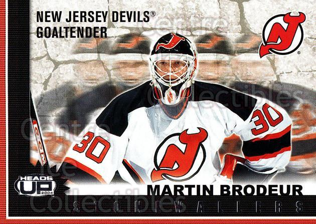 2003-04 Pacific Heads-Up Stonewallers #7 Martin Brodeur<br/>2 In Stock - $5.00 each - <a href=https://centericecollectibles.foxycart.com/cart?name=2003-04%20Pacific%20Heads-Up%20Stonewallers%20%237%20Martin%20Brodeur...&price=$5.00&code=301764 class=foxycart> Buy it now! </a>