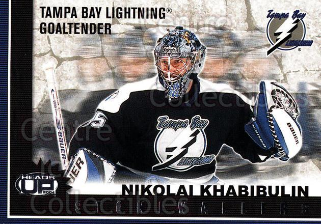 2003-04 Heads-Up Stonewallers #10 Nikolai Khabibulin<br/>2 In Stock - $2.00 each - <a href=https://centericecollectibles.foxycart.com/cart?name=2003-04%20Heads-Up%20Stonewallers%20%2310%20Nikolai%20Khabibu...&quantity_max=2&price=$2.00&code=301766 class=foxycart> Buy it now! </a>