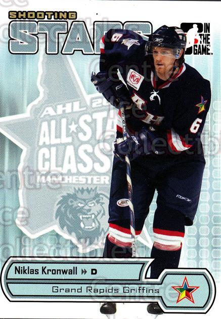 2005-06 ITG Heroes and Prospects Shooting Stars #8 Niklas Kronwall<br/>9 In Stock - $2.00 each - <a href=https://centericecollectibles.foxycart.com/cart?name=2005-06%20ITG%20Heroes%20and%20Prospects%20Shooting%20Stars%20%238%20Niklas%20Kronwall...&price=$2.00&code=301844 class=foxycart> Buy it now! </a>