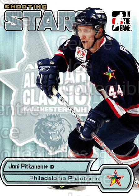 2005-06 ITG Heroes and Prospects Shooting Stars #9 Joni Pitkanen<br/>8 In Stock - $2.00 each - <a href=https://centericecollectibles.foxycart.com/cart?name=2005-06%20ITG%20Heroes%20and%20Prospects%20Shooting%20Stars%20%239%20Joni%20Pitkanen...&price=$2.00&code=301845 class=foxycart> Buy it now! </a>