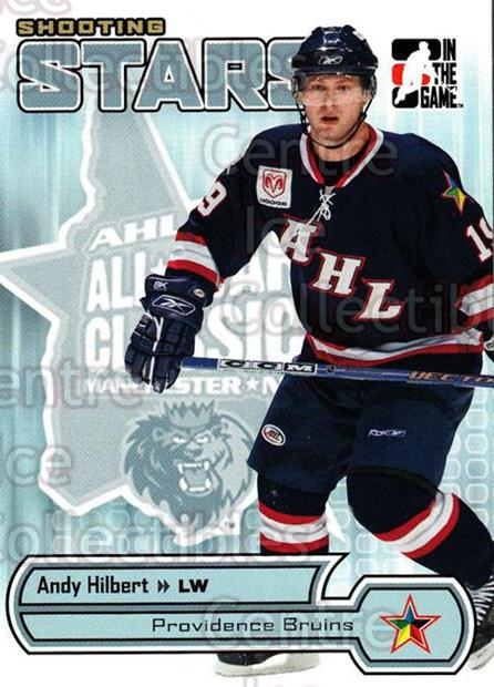 2005-06 ITG Heroes and Prospects Shooting Stars #11 Andy Hilbert<br/>5 In Stock - $2.00 each - <a href=https://centericecollectibles.foxycart.com/cart?name=2005-06%20ITG%20Heroes%20and%20Prospects%20Shooting%20Stars%20%2311%20Andy%20Hilbert...&price=$2.00&code=301847 class=foxycart> Buy it now! </a>