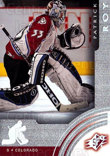 2001-02 SPx #17 Patrick Roy<br/>1 In Stock - $3.00 each - <a href=https://centericecollectibles.foxycart.com/cart?name=2001-02%20SPx%20%2317%20Patrick%20Roy...&quantity_max=1&price=$3.00&code=301903 class=foxycart> Buy it now! </a>