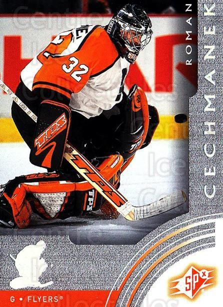 2001-02 SPx #47 Roman Cechmanek<br/>1 In Stock - $1.00 each - <a href=https://centericecollectibles.foxycart.com/cart?name=2001-02%20SPx%20%2347%20Roman%20Cechmanek...&quantity_max=1&price=$1.00&code=301905 class=foxycart> Buy it now! </a>