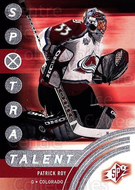 2001-02 SPx #83 Patrick Roy<br/>1 In Stock - $3.00 each - <a href=https://centericecollectibles.foxycart.com/cart?name=2001-02%20SPx%20%2383%20Patrick%20Roy...&quantity_max=1&price=$3.00&code=301906 class=foxycart> Buy it now! </a>