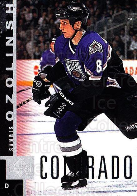 1997-98 Upper Deck #44 Sandis Ozolinsh<br/>2 In Stock - $1.00 each - <a href=https://centericecollectibles.foxycart.com/cart?name=1997-98%20Upper%20Deck%20%2344%20Sandis%20Ozolinsh...&quantity_max=2&price=$1.00&code=301934 class=foxycart> Buy it now! </a>