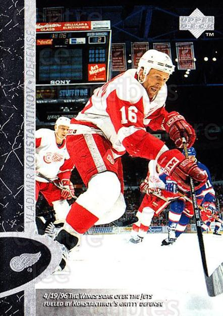1996-97 Upper Deck #52 Vladimir Konstantinov<br/>1 In Stock - $1.00 each - <a href=https://centericecollectibles.foxycart.com/cart?name=1996-97%20Upper%20Deck%20%2352%20Vladimir%20Konsta...&quantity_max=1&price=$1.00&code=301973 class=foxycart> Buy it now! </a>
