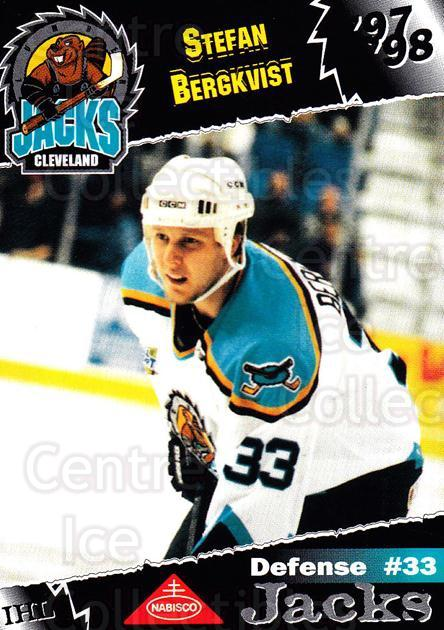 1997-98 Cleveland Lumberjacks #5 Stefan Bergkvist<br/>2 In Stock - $3.00 each - <a href=https://centericecollectibles.foxycart.com/cart?name=1997-98%20Cleveland%20Lumberjacks%20%235%20Stefan%20Bergkvis...&quantity_max=2&price=$3.00&code=302080 class=foxycart> Buy it now! </a>