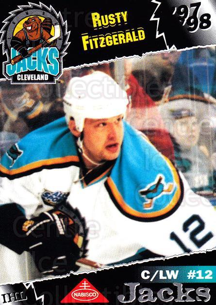 1997-98 Cleveland Lumberjacks #11 Rusty Fitzgerald<br/>2 In Stock - $3.00 each - <a href=https://centericecollectibles.foxycart.com/cart?name=1997-98%20Cleveland%20Lumberjacks%20%2311%20Rusty%20Fitzgeral...&price=$3.00&code=302086 class=foxycart> Buy it now! </a>