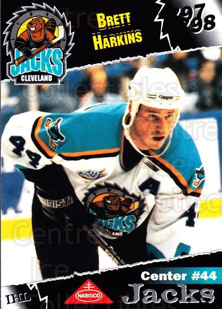 1997-98 Cleveland Lumberjacks #12 Brett Harkins<br/>3 In Stock - $3.00 each - <a href=https://centericecollectibles.foxycart.com/cart?name=1997-98%20Cleveland%20Lumberjacks%20%2312%20Brett%20Harkins...&quantity_max=3&price=$3.00&code=302087 class=foxycart> Buy it now! </a>