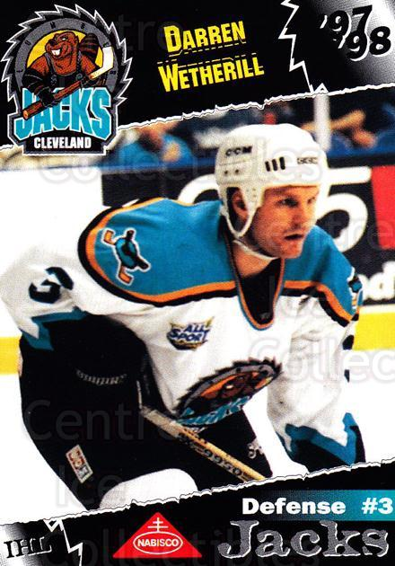 1997-98 Cleveland Lumberjacks #26 Darren Wetherill<br/>2 In Stock - $3.00 each - <a href=https://centericecollectibles.foxycart.com/cart?name=1997-98%20Cleveland%20Lumberjacks%20%2326%20Darren%20Wetheril...&quantity_max=2&price=$3.00&code=302101 class=foxycart> Buy it now! </a>