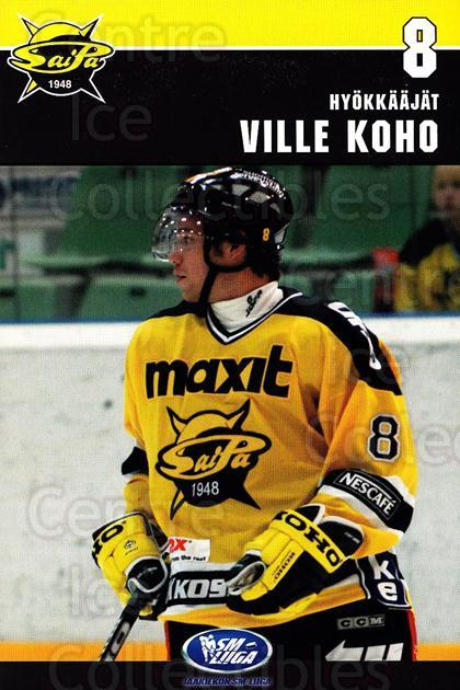 2006-07 Finnish SaiPa Lappeenranta Postcards #4 Ville Koho<br/>2 In Stock - $3.00 each - <a href=https://centericecollectibles.foxycart.com/cart?name=2006-07%20Finnish%20SaiPa%20Lappeenranta%20Postcards%20%234%20Ville%20Koho...&quantity_max=2&price=$3.00&code=302172 class=foxycart> Buy it now! </a>