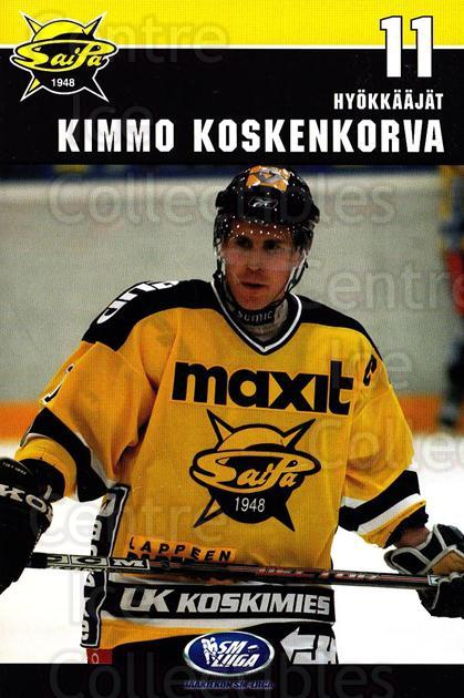 2006-07 Finnish SaiPa Lappeenranta Postcards #5 Kimmo Koskenkorva<br/>2 In Stock - $3.00 each - <a href=https://centericecollectibles.foxycart.com/cart?name=2006-07%20Finnish%20SaiPa%20Lappeenranta%20Postcards%20%235%20Kimmo%20Koskenkor...&quantity_max=2&price=$3.00&code=302174 class=foxycart> Buy it now! </a>