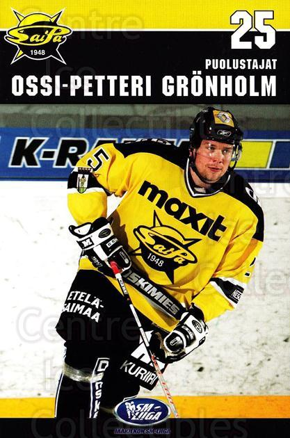 2006-07 Finnish SaiPa Lappeenranta Postcards #11 Ossi-Petteri Gronholm<br/>2 In Stock - $3.00 each - <a href=https://centericecollectibles.foxycart.com/cart?name=2006-07%20Finnish%20SaiPa%20Lappeenranta%20Postcards%20%2311%20Ossi-Petteri%20Gr...&quantity_max=2&price=$3.00&code=302179 class=foxycart> Buy it now! </a>