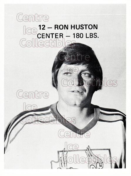 1975-76 Phoenix Roadrunners WHA #11 Ron Huston<br/>3 In Stock - $3.00 each - <a href=https://centericecollectibles.foxycart.com/cart?name=1975-76%20Phoenix%20Roadrunners%20WHA%20%2311%20Ron%20Huston...&quantity_max=3&price=$3.00&code=30217 class=foxycart> Buy it now! </a>