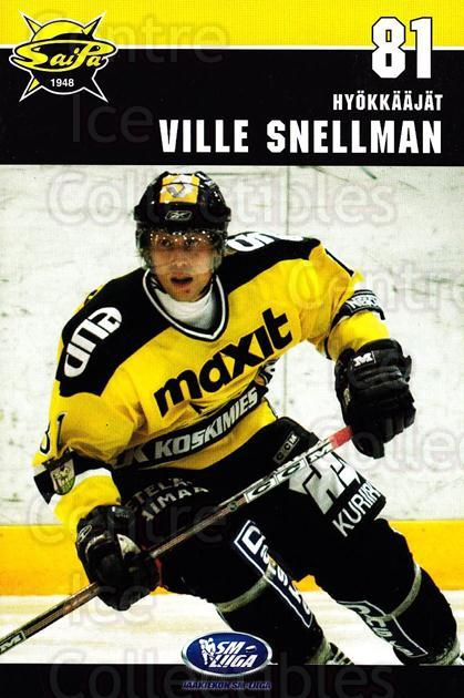 2006-07 Finnish SaiPa Lappeenranta Postcards #17 Ville Snellman<br/>2 In Stock - $3.00 each - <a href=https://centericecollectibles.foxycart.com/cart?name=2006-07%20Finnish%20SaiPa%20Lappeenranta%20Postcards%20%2317%20Ville%20Snellman...&quantity_max=2&price=$3.00&code=302184 class=foxycart> Buy it now! </a>