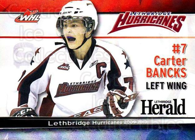2009-10 Lethbridge Hurricanes #6 Carter Bancks<br/>1 In Stock - $3.00 each - <a href=https://centericecollectibles.foxycart.com/cart?name=2009-10%20Lethbridge%20Hurricanes%20%236%20Carter%20Bancks...&quantity_max=1&price=$3.00&code=302249 class=foxycart> Buy it now! </a>