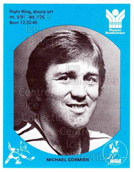 1976-77 Phoenix Roadrunners WHA #2 Michel Cormier<br/>9 In Stock - $3.00 each - <a href=https://centericecollectibles.foxycart.com/cart?name=1976-77%20Phoenix%20Roadrunners%20WHA%20%232%20Michel%20Cormier...&quantity_max=9&price=$3.00&code=30240 class=foxycart> Buy it now! </a>