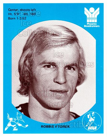 1976-77 Phoenix Roadrunners WHA #3 Robbie Ftorek<br/>8 In Stock - $3.00 each - <a href=https://centericecollectibles.foxycart.com/cart?name=1976-77%20Phoenix%20Roadrunners%20WHA%20%233%20Robbie%20Ftorek...&quantity_max=8&price=$3.00&code=30241 class=foxycart> Buy it now! </a>