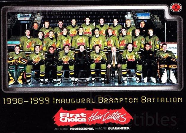 1999-00 Brampton Battalion #2 Brampton Battalion, Team Photo<br/>1 In Stock - $2.00 each - <a href=https://centericecollectibles.foxycart.com/cart?name=1999-00%20Brampton%20Battalion%20%232%20Brampton%20Battal...&price=$2.00&code=302932 class=foxycart> Buy it now! </a>
