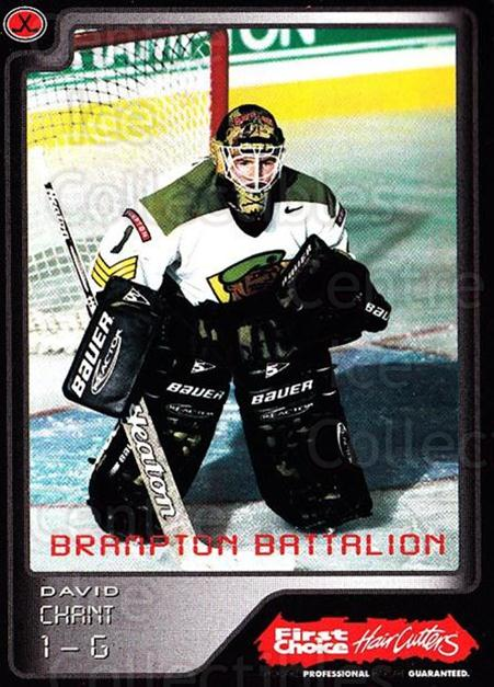 1999-00 Brampton Battalion #3 David Chant<br/>1 In Stock - $3.00 each - <a href=https://centericecollectibles.foxycart.com/cart?name=1999-00%20Brampton%20Battalion%20%233%20David%20Chant...&price=$3.00&code=302933 class=foxycart> Buy it now! </a>