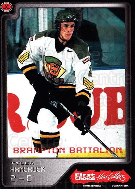 1999-00 Brampton Battalion #5 Tyler Hanchuck<br/>1 In Stock - $3.00 each - <a href=https://centericecollectibles.foxycart.com/cart?name=1999-00%20Brampton%20Battalion%20%235%20Tyler%20Hanchuck...&price=$3.00&code=302935 class=foxycart> Buy it now! </a>