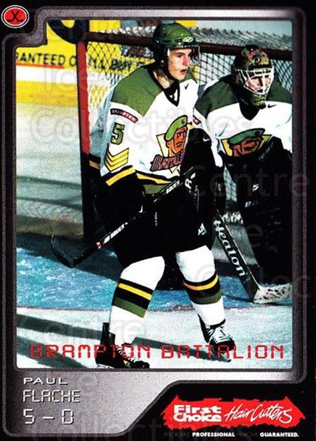 1999-00 Brampton Battalion #7 Paul Flache<br/>1 In Stock - $3.00 each - <a href=https://centericecollectibles.foxycart.com/cart?name=1999-00%20Brampton%20Battalion%20%237%20Paul%20Flache...&price=$3.00&code=302937 class=foxycart> Buy it now! </a>