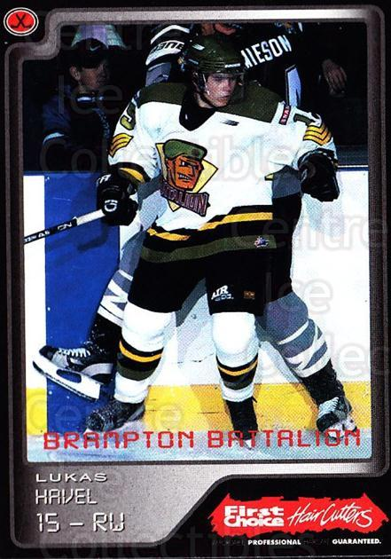 1999-00 Brampton Battalion #14 Lukas Havel<br/>1 In Stock - $3.00 each - <a href=https://centericecollectibles.foxycart.com/cart?name=1999-00%20Brampton%20Battalion%20%2314%20Lukas%20Havel...&price=$3.00&code=302944 class=foxycart> Buy it now! </a>