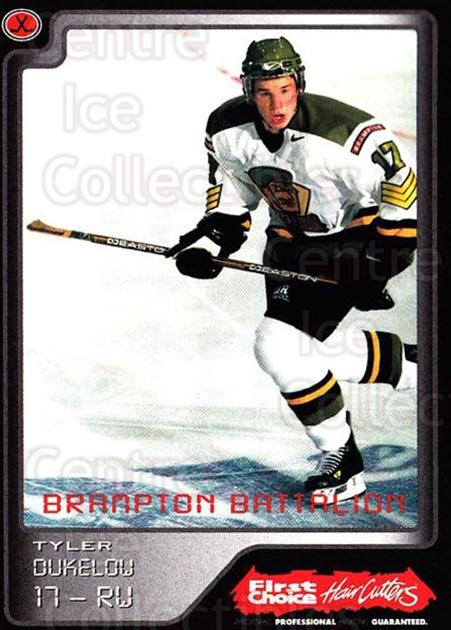 1999-00 Brampton Battalion #16 Tyler Dukelow<br/>2 In Stock - $3.00 each - <a href=https://centericecollectibles.foxycart.com/cart?name=1999-00%20Brampton%20Battalion%20%2316%20Tyler%20Dukelow...&price=$3.00&code=302946 class=foxycart> Buy it now! </a>