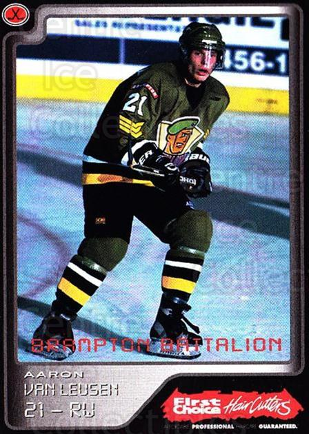 1999-00 Brampton Battalion #20 Aaron Van Leusen<br/>2 In Stock - $3.00 each - <a href=https://centericecollectibles.foxycart.com/cart?name=1999-00%20Brampton%20Battalion%20%2320%20Aaron%20Van%20Leuse...&price=$3.00&code=302950 class=foxycart> Buy it now! </a>