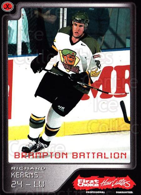 1999-00 Brampton Battalion #23 Richard Kearns<br/>1 In Stock - $3.00 each - <a href=https://centericecollectibles.foxycart.com/cart?name=1999-00%20Brampton%20Battalion%20%2323%20Richard%20Kearns...&price=$3.00&code=302953 class=foxycart> Buy it now! </a>