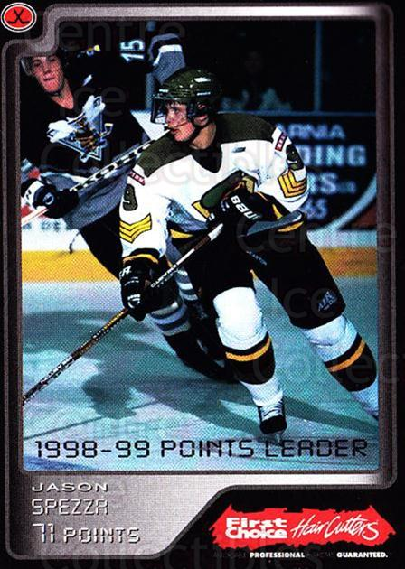 1999-00 Brampton Battalion #27 Jason Spezza<br/>2 In Stock - $10.00 each - <a href=https://centericecollectibles.foxycart.com/cart?name=1999-00%20Brampton%20Battalion%20%2327%20Jason%20Spezza...&price=$10.00&code=302957 class=foxycart> Buy it now! </a>