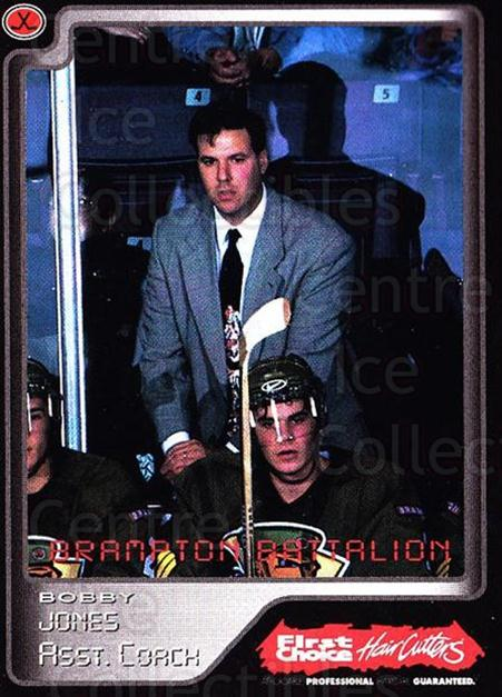 1999-00 Brampton Battalion #29 Bobby Jones<br/>2 In Stock - $3.00 each - <a href=https://centericecollectibles.foxycart.com/cart?name=1999-00%20Brampton%20Battalion%20%2329%20Bobby%20Jones...&price=$3.00&code=302959 class=foxycart> Buy it now! </a>