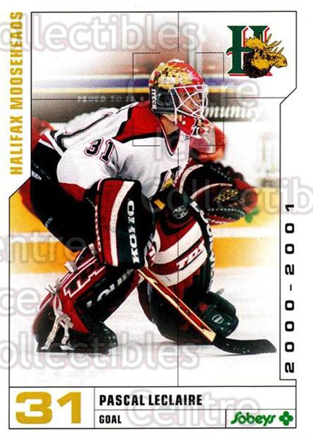 2000-01 Halifax Mooseheads #13 Pascal Leclaire<br/>1 In Stock - $3.00 each - <a href=https://centericecollectibles.foxycart.com/cart?name=2000-01%20Halifax%20Mooseheads%20%2313%20Pascal%20Leclaire...&quantity_max=1&price=$3.00&code=303039 class=foxycart> Buy it now! </a>