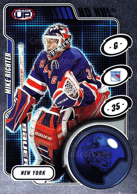 2001-02 Heads-Up HD NHL #18 Mike Richter<br/>2 In Stock - $3.00 each - <a href=https://centericecollectibles.foxycart.com/cart?name=2001-02%20Heads-Up%20HD%20NHL%20%2318%20Mike%20Richter...&quantity_max=2&price=$3.00&code=303356 class=foxycart> Buy it now! </a>