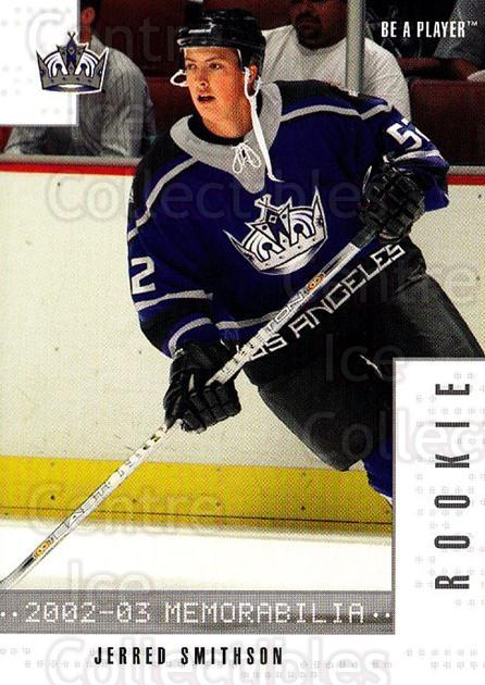 2002-03 BAP Memorabilia #303 Jared Smithson<br/>1 In Stock - $2.00 each - <a href=https://centericecollectibles.foxycart.com/cart?name=2002-03%20BAP%20Memorabilia%20%23303%20Jared%20Smithson...&quantity_max=1&price=$2.00&code=303450 class=foxycart> Buy it now! </a>