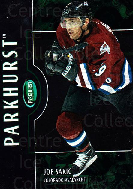 2002-03 Parkhurst #109 Joe Sakic<br/>1 In Stock - $2.00 each - <a href=https://centericecollectibles.foxycart.com/cart?name=2002-03%20Parkhurst%20%23109%20Joe%20Sakic...&quantity_max=1&price=$2.00&code=303544 class=foxycart> Buy it now! </a>