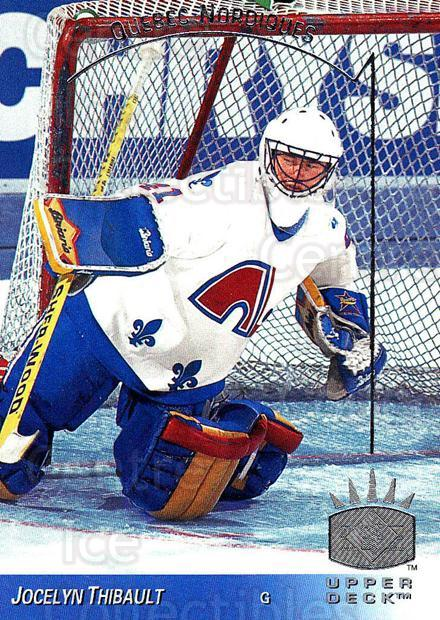 1993-94 Upper Deck SP #133 Jocelyn Thibault<br/>2 In Stock - $1.00 each - <a href=https://centericecollectibles.foxycart.com/cart?name=1993-94%20Upper%20Deck%20SP%20%23133%20Jocelyn%20Thibaul...&quantity_max=2&price=$1.00&code=3036 class=foxycart> Buy it now! </a>