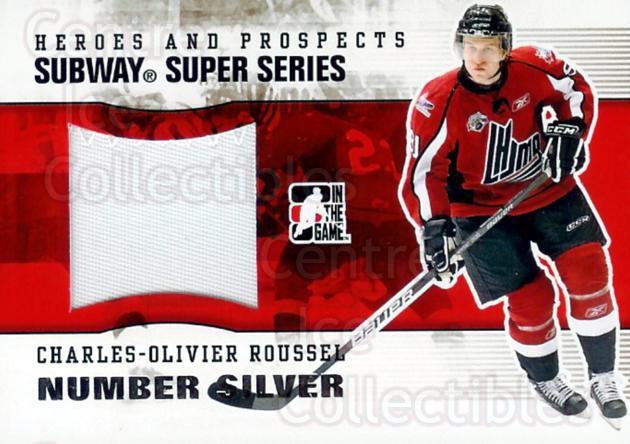 2009-10 ITG Heroes and Prospects Subway Number Silver #7 Charles-Olivier Roussel<br/>1 In Stock - $20.00 each - <a href=https://centericecollectibles.foxycart.com/cart?name=2009-10%20ITG%20Heroes%20and%20Prospects%20Subway%20Number%20Silver%20%237%20Charles-Olivier...&price=$20.00&code=303712 class=foxycart> Buy it now! </a>