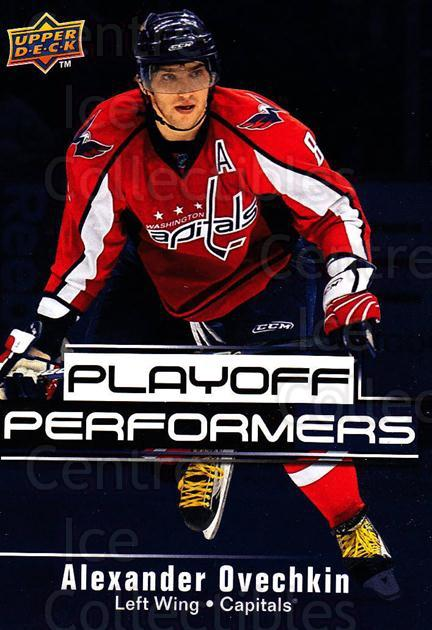 2009-10 Upper Deck Playoff Performers #1 Alexander Ovechkin<br/>4 In Stock - $3.00 each - <a href=https://centericecollectibles.foxycart.com/cart?name=2009-10%20Upper%20Deck%20Playoff%20Performers%20%231%20Alexander%20Ovech...&price=$3.00&code=303752 class=foxycart> Buy it now! </a>