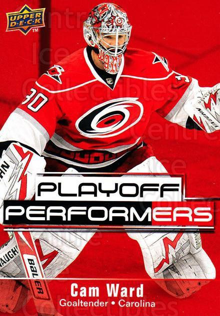 2009-10 Upper Deck Playoff Performers #2 Cam Ward<br/>3 In Stock - $2.00 each - <a href=https://centericecollectibles.foxycart.com/cart?name=2009-10%20Upper%20Deck%20Playoff%20Performers%20%232%20Cam%20Ward...&price=$2.00&code=303753 class=foxycart> Buy it now! </a>