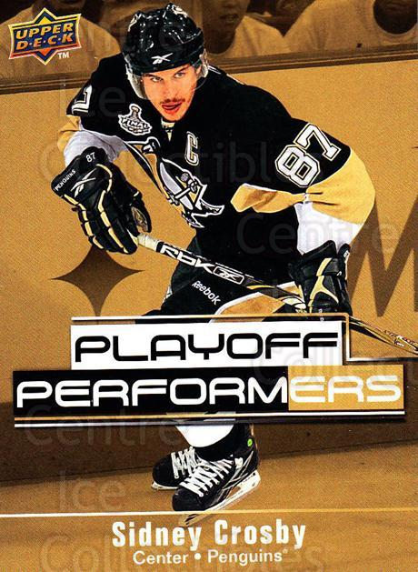 2009-10 Upper Deck Playoff Performers #13 Sidney Crosby<br/>1 In Stock - $3.00 each - <a href=https://centericecollectibles.foxycart.com/cart?name=2009-10%20Upper%20Deck%20Playoff%20Performers%20%2313%20Sidney%20Crosby...&quantity_max=1&price=$3.00&code=303764 class=foxycart> Buy it now! </a>