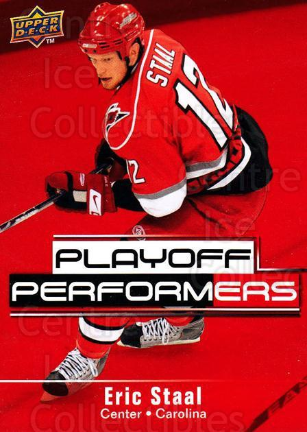 2009-10 Upper Deck Playoff Performers #16 Eric Staal<br/>3 In Stock - $2.00 each - <a href=https://centericecollectibles.foxycart.com/cart?name=2009-10%20Upper%20Deck%20Playoff%20Performers%20%2316%20Eric%20Staal...&quantity_max=3&price=$2.00&code=303767 class=foxycart> Buy it now! </a>