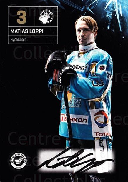 2011-12 Finnish Pelicans Autographed Postcards #2 Matias Loppi<br/>2 In Stock - $5.00 each - <a href=https://centericecollectibles.foxycart.com/cart?name=2011-12%20Finnish%20Pelicans%20Autographed%20Postcards%20%232%20Matias%20Loppi...&quantity_max=2&price=$5.00&code=303769 class=foxycart> Buy it now! </a>