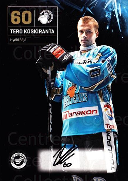 2011-12 Finnish Pelicans Autographed Postcards #25 Tero Koskiranta<br/>3 In Stock - $5.00 each - <a href=https://centericecollectibles.foxycart.com/cart?name=2011-12%20Finnish%20Pelicans%20Autographed%20Postcards%20%2325%20Tero%20Koskiranta...&quantity_max=3&price=$5.00&code=303792 class=foxycart> Buy it now! </a>